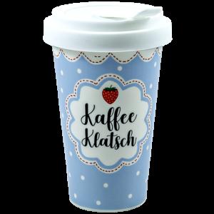 Kaffee Klatsch – Porzellan To Go Becher