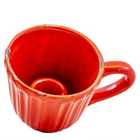Kerzenhalter Tasse – Rot
