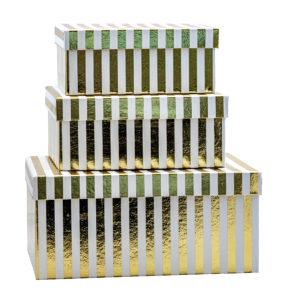 Geschenkboxen 3er Set – Gold