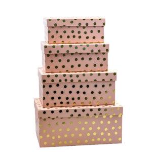 Geschenkboxen 4er Set – Rosa