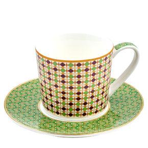 Tassen mit Untertassen- 4er Set