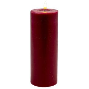 Deluxe Stumpfkerze  Ø7,5*20 cm – Rot