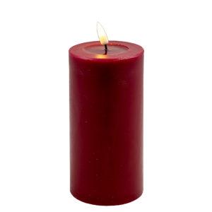 Deluxe Stumpfkerze  Ø7,5*15 cm – Rot