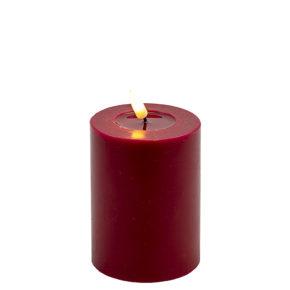 Deluxe Stumpfkerze  Ø7,5*10 cm – Rot