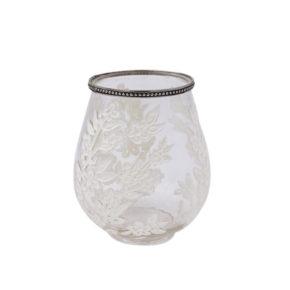 Windlicht Sabine – Weiß 18,5cm