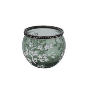 Windlicht Sabine – Grün 8,5cm