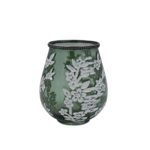 Windlicht Sabine – Grün 18,5 cm