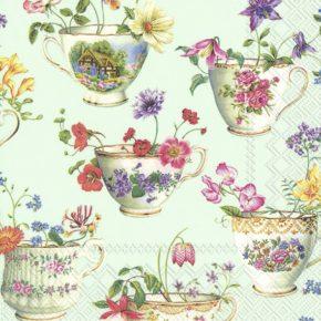 CUP OF FLOWERS – Lunch-Servietten
