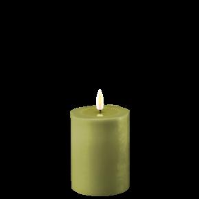 Deluxe Stumpfkerze Ø7,5*10 cm – Olive