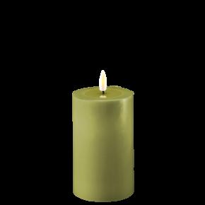 Deluxe Stumpfkerze Ø7,5*12,5cm – Olive