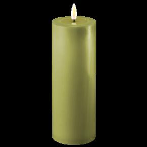 Deluxe Stumpfkerze Ø7,5*20cm – Olive