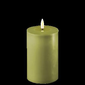 Deluxe Stumpfkerze Ø10*15cm – Olive