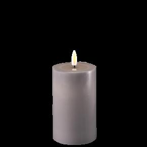 Deluxe Stumpfkerze Ø7,5*12,5cm- Grau
