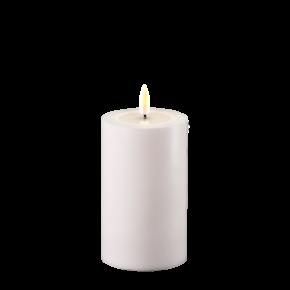 Outdoor Stumpfkerze Ø7,5*12,5 cm – weiß